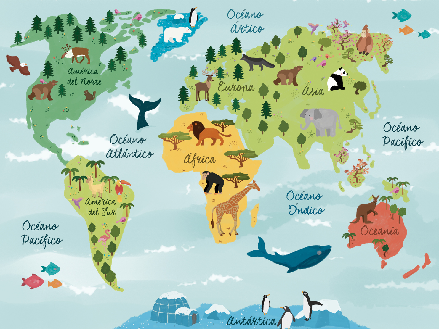 Mapa del Mundo Illustado