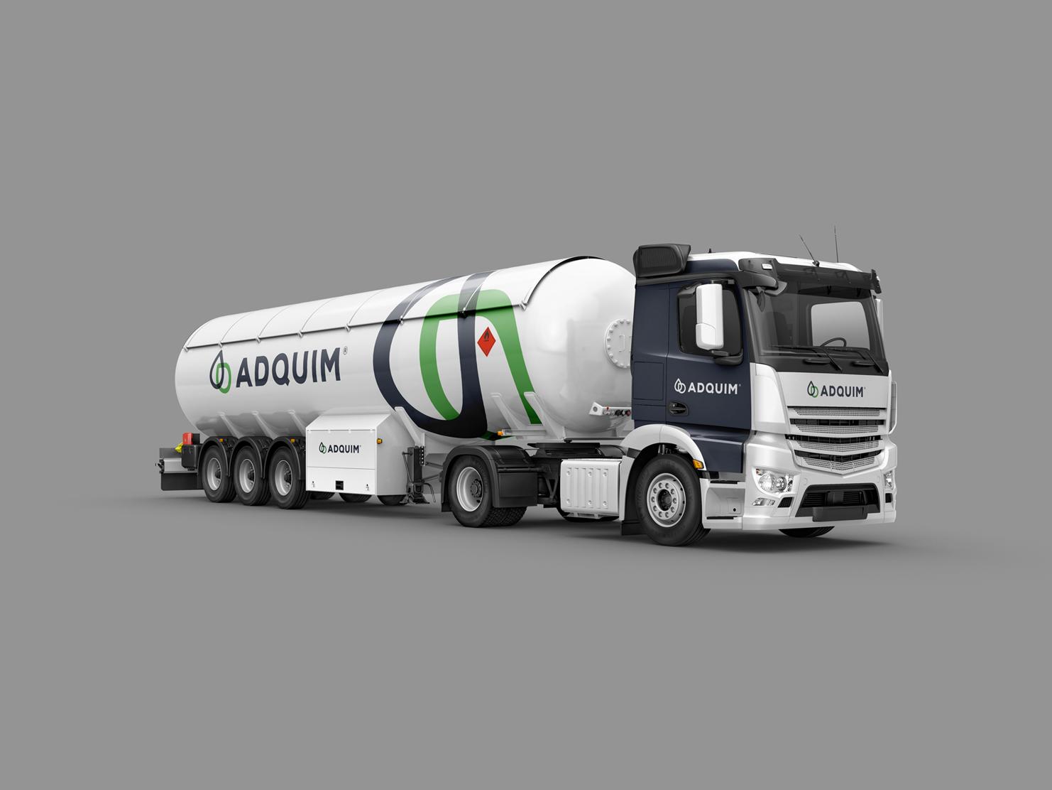 Branding de camiones Adquim